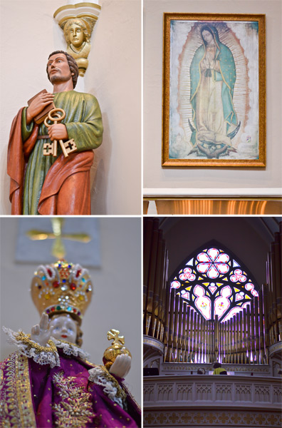 Statues, Mary of Guadalupe & the organ