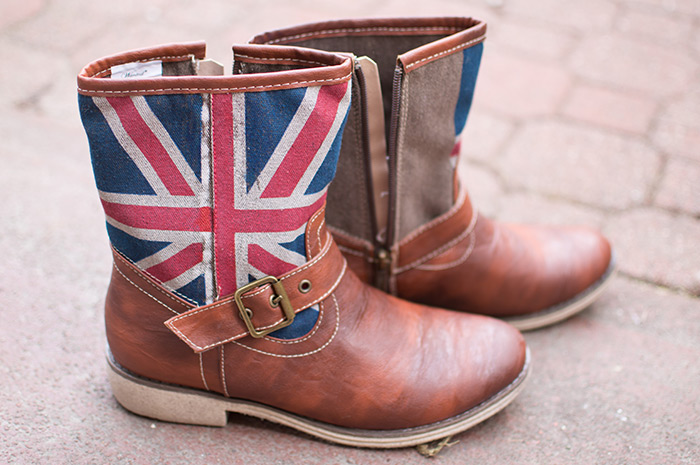 Boots. With a Union Jack.