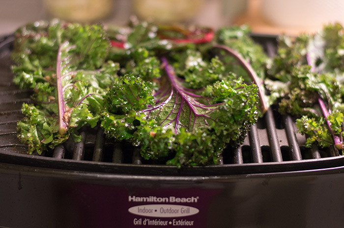Grilled kale. Meh.