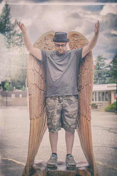 Mike as an angel