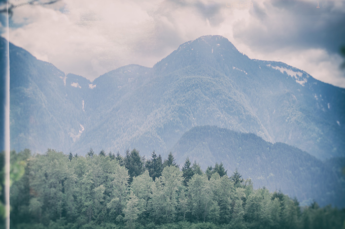 A nearby mountain