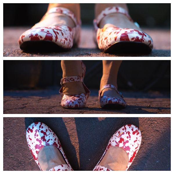 Blood splattery shoes!