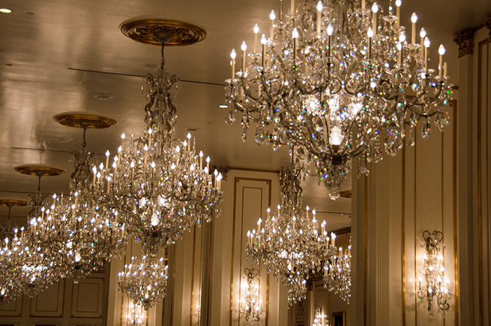 Chandeliers at the Paris