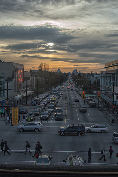 Sunset on Commercial Drive