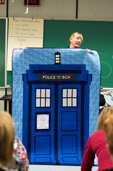 Quilting Bee Night With The Tardis Carolbrowne