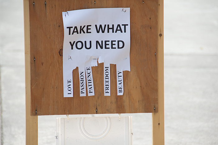 Take what you need. Leave the rest.