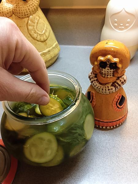 Delicious pickles.