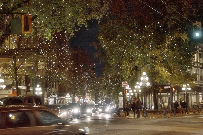 The twinkly lights of Gastown.